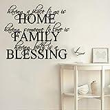 HGFDHG Home Familia Bendiciones Pegatinas de Pared Entrada de Bienvenida Pasaje Sala de Estar Familia Amor Citas Pegatinas de Pared Vinilo Decoración de la casa
