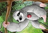 Trudi - Puzzle Terciopelo Animales exóticos 3 en1 (31001)
