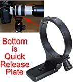 iShoot - Anillo de trípode para objetivo de metal para Canon EF 28-300 mm f/3.5-5.6L IS USM, Canon EF 70-300 mm f/4-5.6L IS USM – El soporte de cámara es placa de liberación rápida