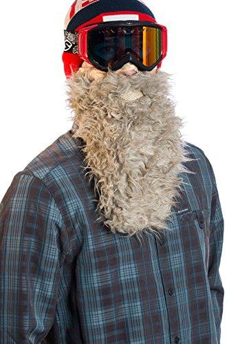 Beardski Yak Skimaske mit Bart - Beige