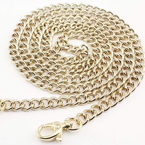 Handtaschenkette aus Metal, für (Hand-)Taschen und Geldbörsen, kurze Länge, Ersatzteil, Nickel, helles Gold, Bronze, Messing zur Auswahl 120 cm Golden-b