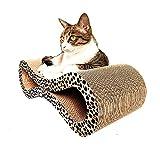 BERYLSHOP Papel Corrugado Tablero de arañazos for Gatos Figura 8 Big Yards Toy Cat Litter Grinding Claw Productos for Mascotas Enviar Cat Grass Leopard Grain Design Character (Color : Leopard Print)