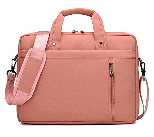 """AOMAG Luxury Waterproof Nylon Durable Laptop Computer Messenger Bag Case with Convex Buffer Pad (Pink, 15.6"""")"""