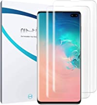 QiMai 3 Pack Galaxy S10 Plus S10+ Screen Protector [100% Case Friendly] [Screen Unlocking Uncompromised] HD Clear Nano TPU Film Screen Protector Cover Shield