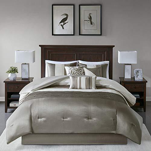 Madison Park Amherst 7 pcs Comforter Set-Natural-Queen, Khaki