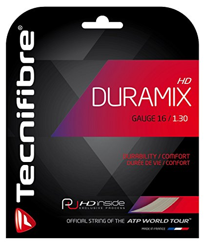 Tecnifibre Duramix HD Cordaje de Tenis Individual, Natural, 1.30mm