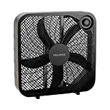 8 box fan - PELONIS PFB50A2ABB-V 3-Speed Box Fan for Full-Force Circulation with Air Conditioner, Black, 2020 New Model