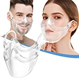 Combine Plastic_Face_Masks Nose/Mouth Coverings, Clarity Face_Shield for Adult, Anti-Fog Reusable Clear Face_Mask Transparent (2PCS Clear)