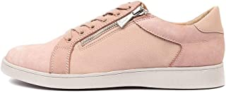 Hush Puppies Mimosa Silver Leather Womens Sneakers Casuals Shoes