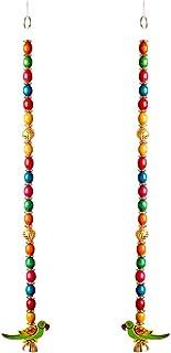 Aditri Creation Multicorol Bead Big Set of 2 with peorot Hanging