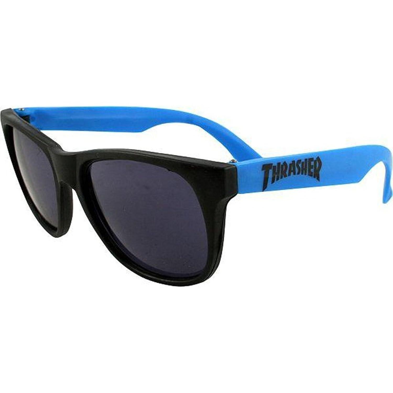 (スラッシャー)THRASHER MAGZINE ビアゴーグル サングラス 眼鏡 Beer Goggles Blue×Black(ブルー×ブラック)