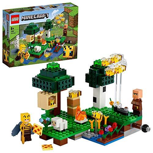LEGO 21165 Minecraft Die Bienenfarm, Bauset mit Bienenzüchterin und Schaffigur, Spielzeuge für Jungen und...