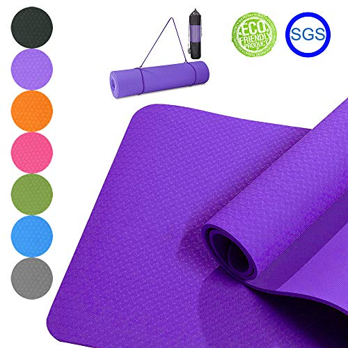 Hautfreundliche Yogamatte von Good Times mit Tasche & Trageband