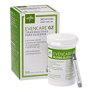 buy  Evencare – MPH1550Z Medline G2 Blood Glucose ... Blood Test Strips