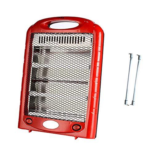 LKLXJ Riscaldatore al Quarzo da Tavolo Rosso | Riscaldatore Alogeno Elettrico Portatile 600w | Radiatore | Protezione di Sicurezza Termica Interrotta | con 2 Impostazioni di Riscaldamento