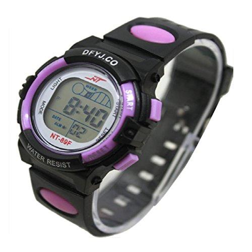 yistu Kid 's reloj deportivo, Cool Girl Boy LED luz reloj de pulsera alarma fecha reloj, C
