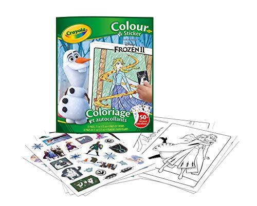 Crayola - Album de coloriage et autocollants la Reine des Neiges 2 - Loisir créatif - washimals - Color N wash - à partir de 3 ans - Jeu de dessin et coloriage