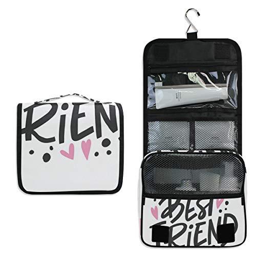 Jacksome Best Friend Toiletry Bag Packing Organizer Bra Underwear Storage Bag Travel Lingerie Pouch Makeup Bag Luggage Storage Case For Cosmetics Hotel Bathroom Airplane
