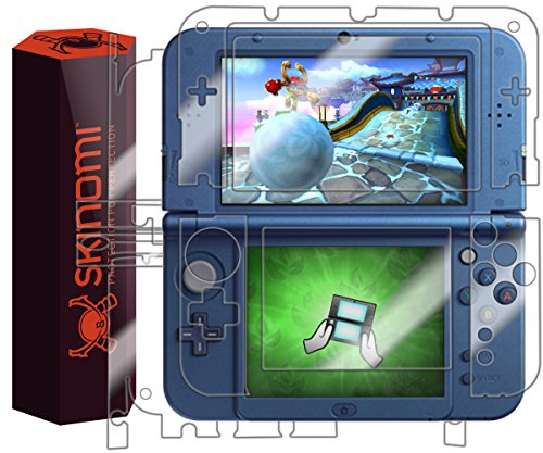Skinomi Full Body Skin Protector Compatible with Nintendo 3DS XL (Nintendo 3DS LL, 2015)(Screen Protector + Back Cover) TechSkin Full Coverage Clear HD Film