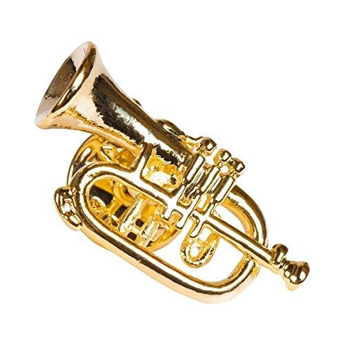Unbekannt Anstecker Flügelhorn - Schönes Geschenk für Musiker mit Geschenkverpackung