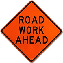 Traffic Signs - Road Work Ahead Sign 12 x 18 Aluminum Sign Street Weather Approved Sign 0.04 Thickness