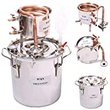 DIY5 Gal 20 Litres Alcohol Moonshine Ethanol Still Spirits Stainless Steel Boiler Water Distiller Wine Making Kit