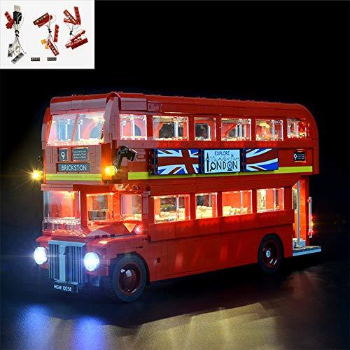 TZH Kit De Iluminación LED Modelo para Lego, Juego De Luces USB Compatible con El Autobús De Dos Pisos De Londres, Kit De Iluminación LED para Modelo De Bloques De Construcción