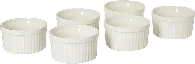 Verona C5280488 6 Pieces Ramekin Bowls, White, 4 Inch, Serves 6