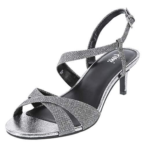 Fioni Silver Women's Dazie Low Heel 6.5 Wide