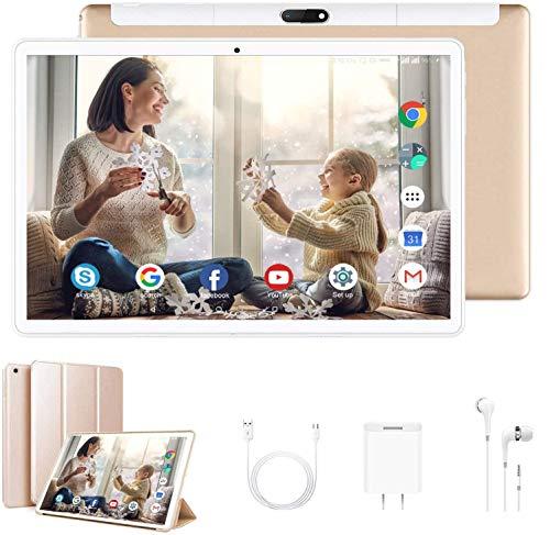 Tablet Offerte 10 Pollici 4G LTE Tablet Android con Wifi offerte Memoria RAM da 4GB+64GB Android 9.0 Quad-Core con 8MP Fotocamera, Tablet Offerta Del Giorno 4G Dual SIM con OTG Bluetooth GPS