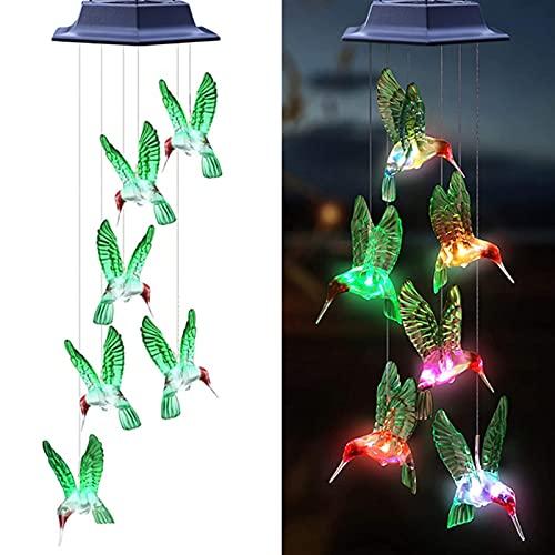 Luz solar de salida de potencia LED de viento IP65 impermeable mariposa colibrí señal decoración jardín (color: 3)