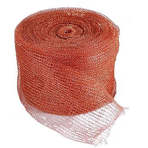 ZHIRCEKE Red de Cobre de Bricolaje, Tejido de Cobre de Punto para Bate/ratón Tapón de Bloqueador de Cobre tapón de Rejilla de Cobre, barriles de tubería Limpia, gapsfilfilun Filtro