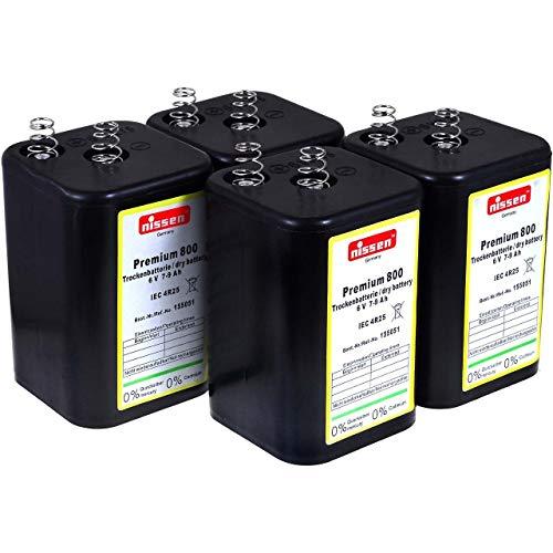 4R25 Pila 6V-Block de Reemplazo para Pila de Linterna Nissen IEC 4R25 Lote 4 uds.