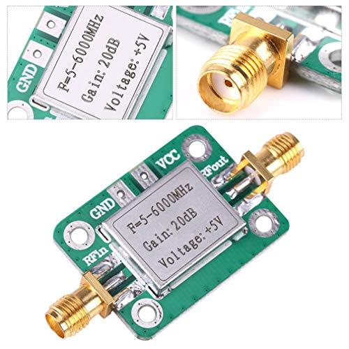 HiLetgo RF Signal Power Amplifier 5M-6GHz RF Low Noise Broadband Signal Amplifier Power Amplifier Gain 20dB VFH UHF SHF 5-6000mhz LNA