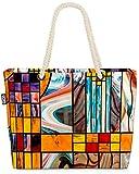 VOID Vidrieras Bolsa de Playa 58x38x16cm 23L Shopper Bolsa de Viaje Compras Beach Bag Bolso