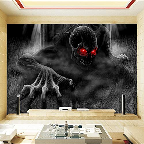 Xcmb Skull Skeleton Mural Wallpaper 3D Wall Ceiling Murals For Baby Kids Room Background 3D Wall Photo Mural Wall Sticker-200Cmx140Cm
