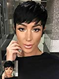 Short Pixie Cut Wig Heat Resistant Hairpieces Women's Wig Short Black Hairstyles Synthetic Wigs For Women Popular Fashion Wigs