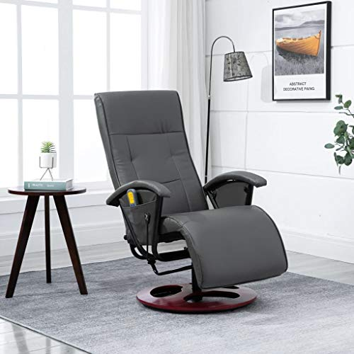 Festnight Massagesessel Komfort Deluxe Sitzposition Maße 66 x 92 x 106 cm (B x T x H) Grau