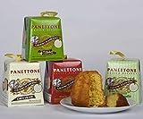 Torta italiana de regalo Panettone – Torre de Panettones 5 pasteles italianos auténticos individuales – Torre de golosinas incluye 1 pastel Pandoro y 4 panettone con sabor variado