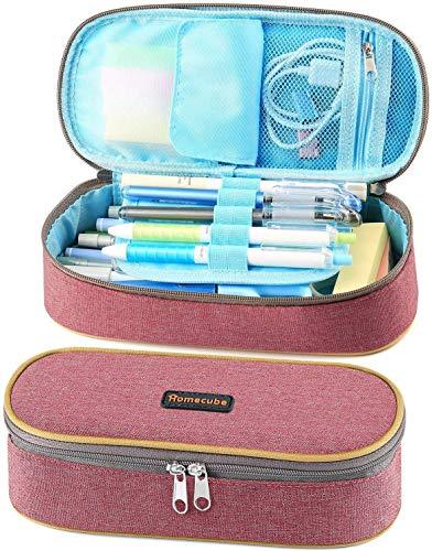 Homecube - Estuche para lápices, gran capacidad, práctico estuche de papelería, estuche...