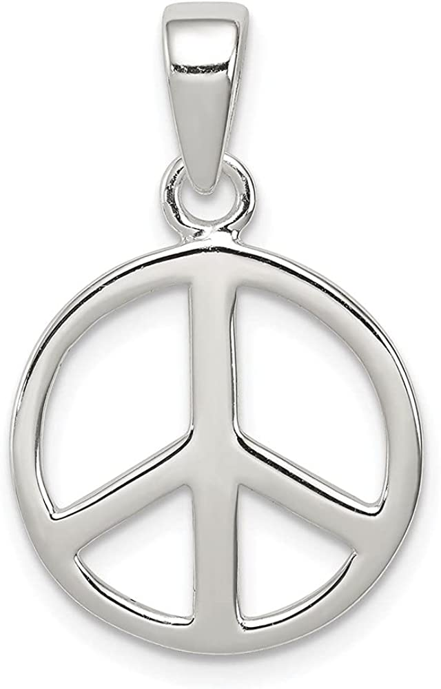 Max 60% OFF Diamond2Deal 925 Sterling Silver Peace Sign L- W Pendant 24 shipfree mm