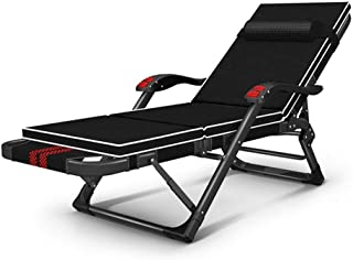CCDZDM Folding Lounge Chair Deck Chair Recliner Lounger Office Nap Chair Garden Terrace Beach Sun Ch