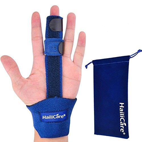 HailiCare 指サポーター バネ指サポーター フィンガーサポーター 突き指 指保護 プレート入り 腱鞘炎 関節炎 固定 リハビリ ラップ式 フリーサイズ 左右兼用 親指 人差し指 中指 薬指 小指 (JP-普通サイズ)