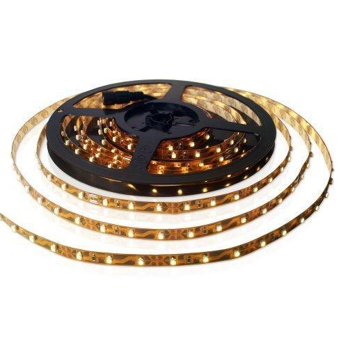 SET: LED STRIP strip band warm wit - INCL. VOEDING / 300 LEDs / 5 METER - MFYLED-5WW