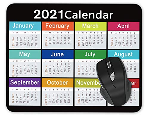 2021 Calendar Mouse pad Gaming Mouse pad Mousepad Nonslip Rubber Backing