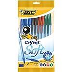 BIC Cristal Soft bolígrafos punta media ...