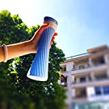 Vaso de agua no tóxico, portátil, tamaño suave, plegable, botellas de agua de silicona, para exteriores, pícnic, viajes, botella plegable para bebidas al aire libre (color: azul)
