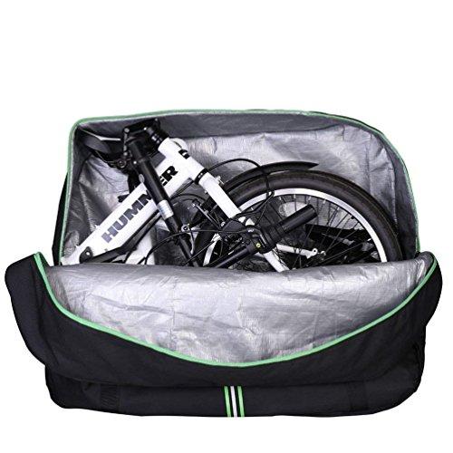 RockBros - Bolsa de transporte con mochila para bicicleta plegable, ideal para...