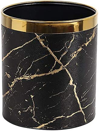 PU Leather Marble Texture Selling and selling Max 59% OFF Trash Storage Basket Waste Paper Cans
