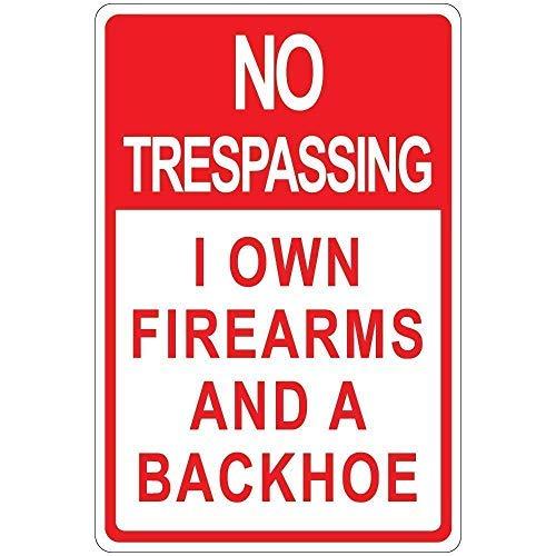 Warnschilder Aufschrift Trespassing